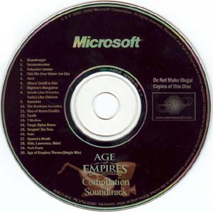 Age Of Empires II: The Conquerors- Soundtrack details
