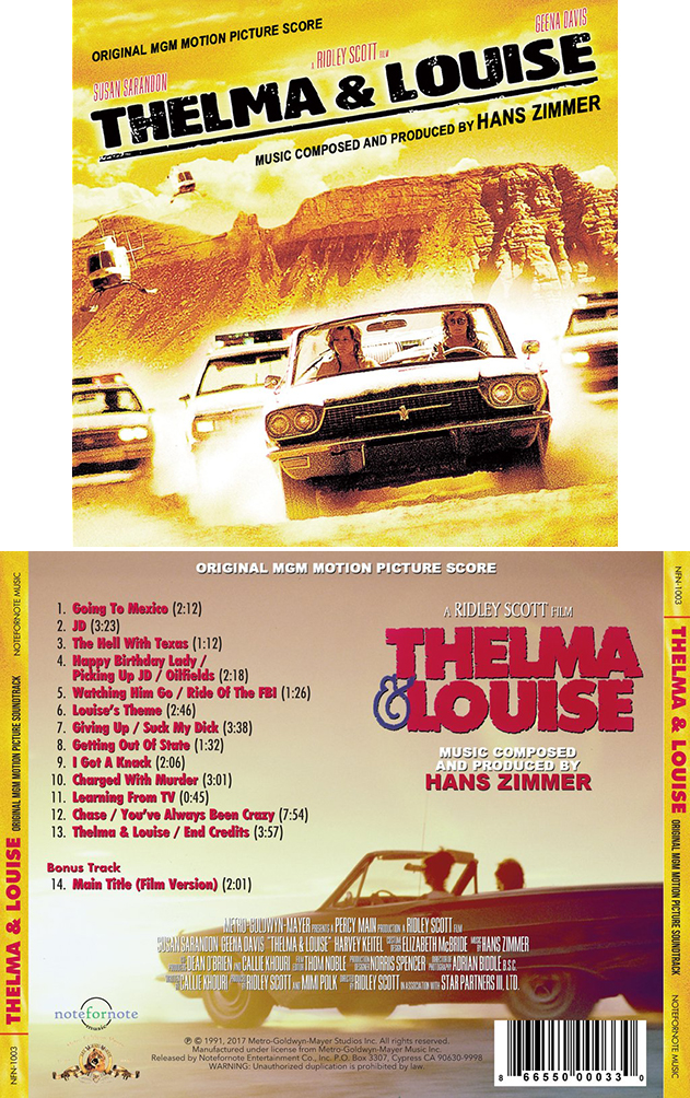 Thelma Louise Soundtrack Details Soundtrackcollector
