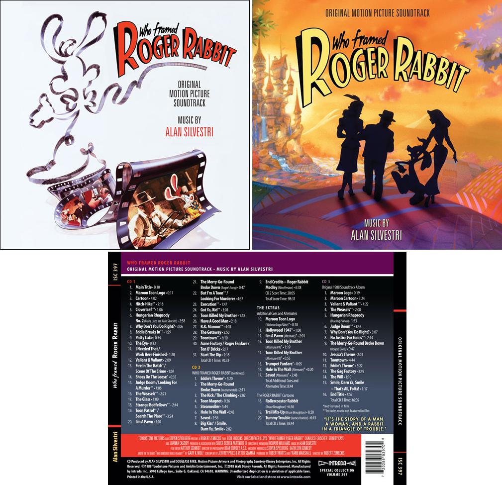 Who Framed Roger Rabbit- Soundtrack details