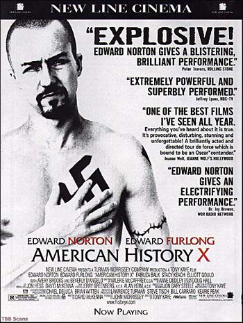 movie review for american history x American history x: a racist film about racism a commentary written by angeliki coconi for unsung films  in movie reviews edgar michael bravo (mother's red.