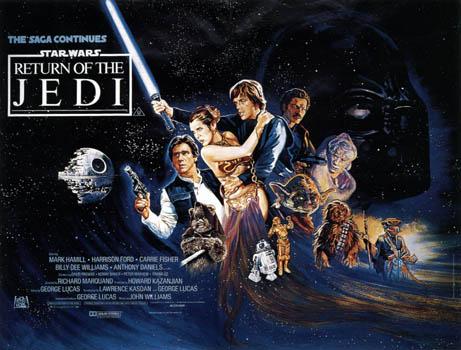 Movie poster star wars: return of the jedi; star wars: episode vi.
